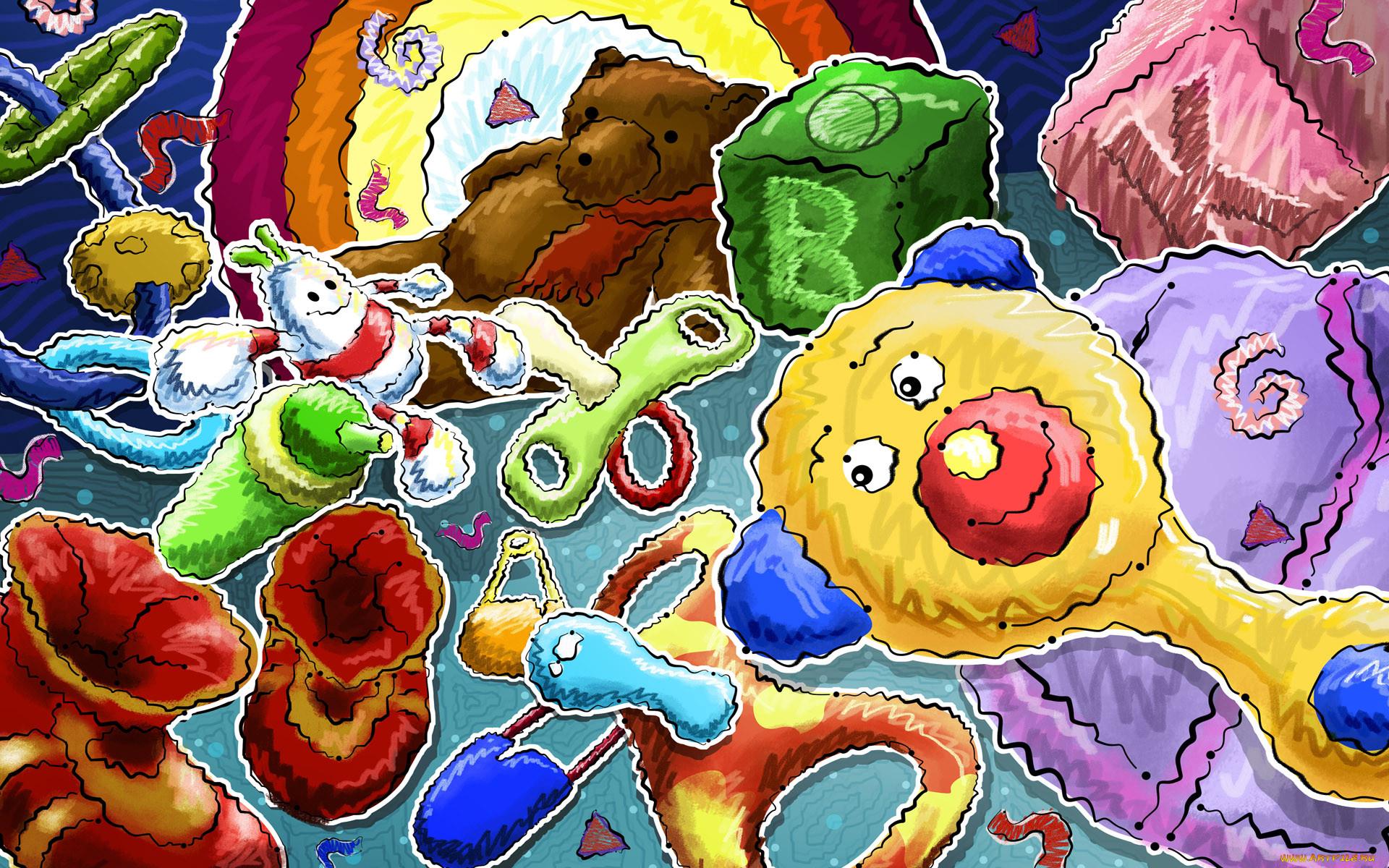 Яркие красочные детские картинки